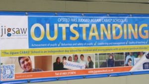 Ofsted Outstanding School banner